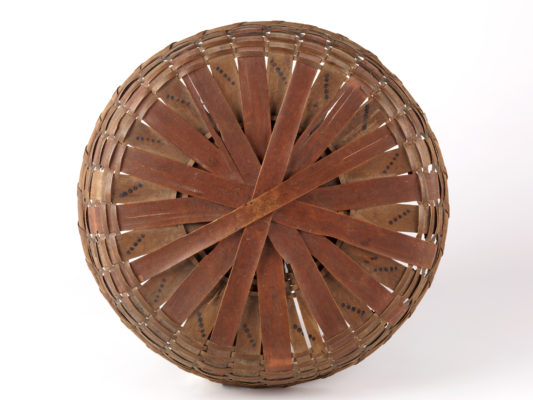 Base of round painted basket